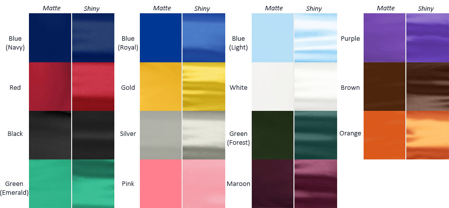 Graduation Gown Fabric Comparison