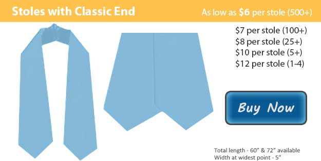 Light Blue Graduation Stole Picture