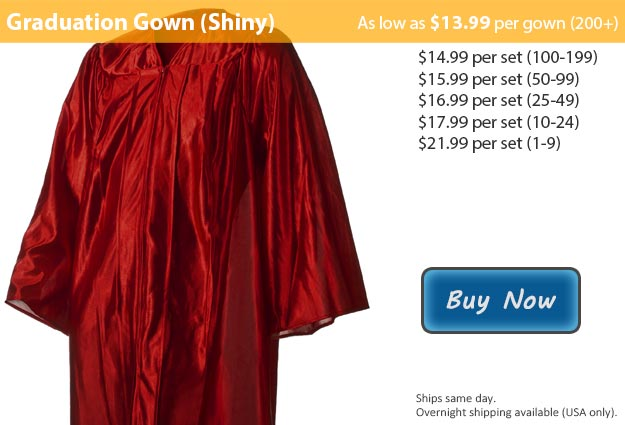 Shiny Maroon Graduation Gown Picture
