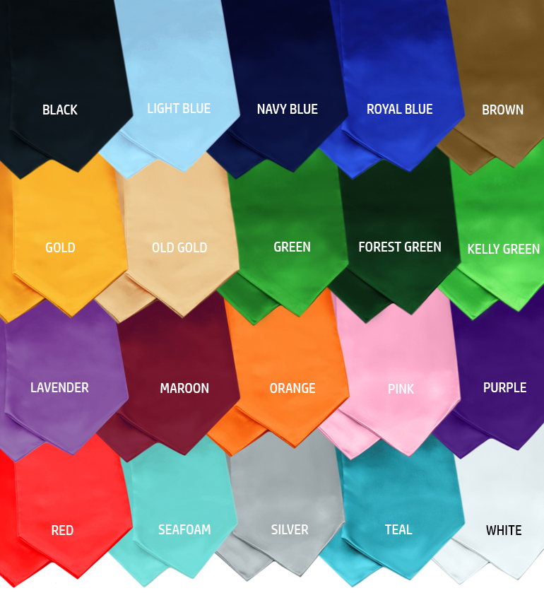 Graduation Stole Color Guide